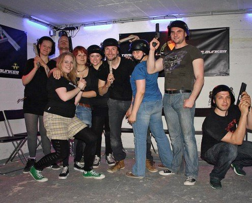 Lasertag in Berlin-Team Force im Bunker