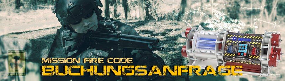 Lasertag Berlin - Underground Lasergame bei Berlin - sende uns Deine Buchungsanfrage für das Outdoorgame Mission Fire Code