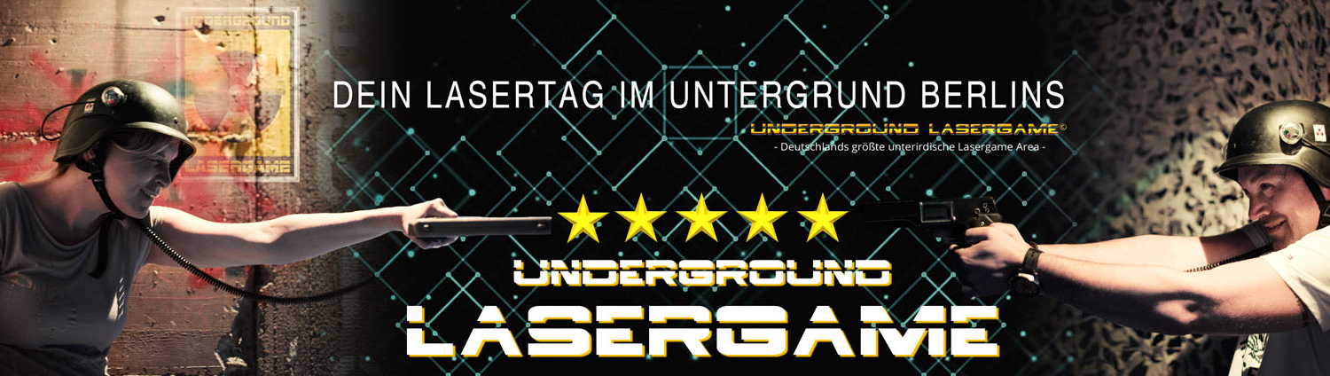 Lasertag Berlin-Underground Lasergamebietet Dir Indoor und Outdoor pure Lasergame-Action