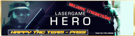 Lasertag Berlin-Happy Tag Team Lasergamepacket Hero by Underground Lasergame