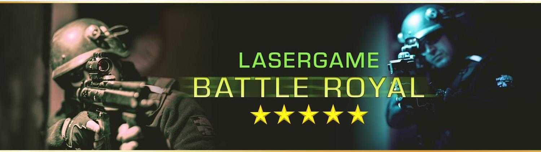 Lasertag Berlin-spiele das Lasergamepaket Battle Royal, mit 5 unterschiedlichen Games in 120 Minuten