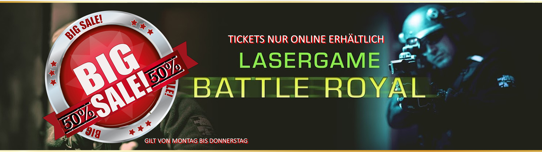 Lasertag Berlin-Sale Lasergamepacket BATTLE ROYAL by Underground Lasergame