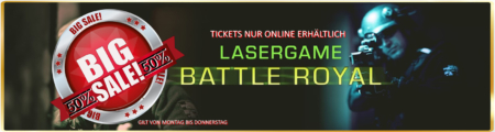 Lasertag Berlin-Sale Lasergamepacket BATTLE ROYAL by Underground Lasergame