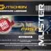 Lasertag Berlin-Ticket Muster für das Lasergamepaket Fast